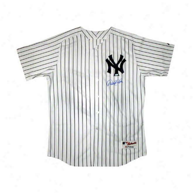 Derek Jeter New York Yankees Autographed Authentic Home Pinstripe Jersey