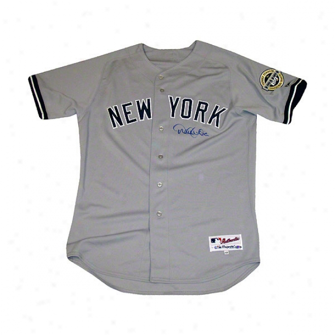 Derek Jeter New York Yankees Autographed Authentic Road Jersey With Inaugural Year Patch Jersey