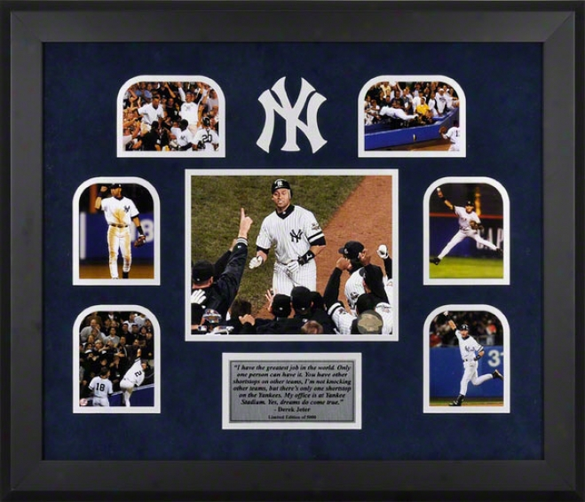 Derek Jeter New York Yankees Framed Multi Photograph Collage