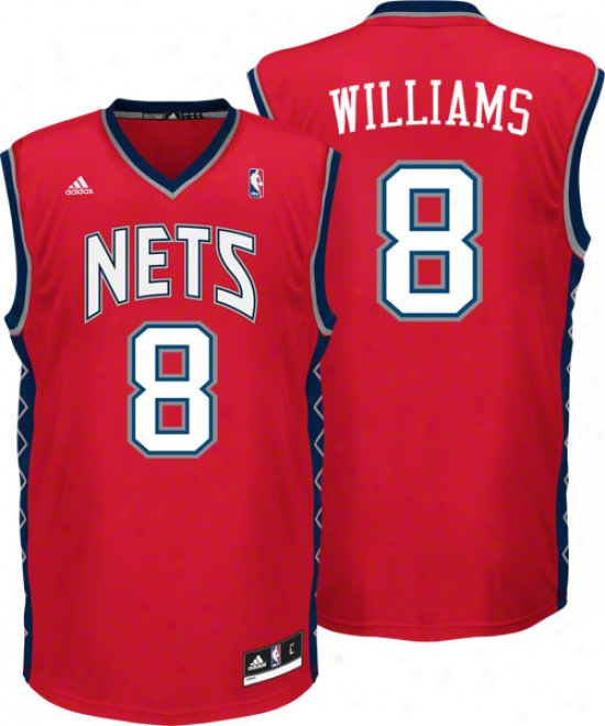 Deron Williams Jersey: Adidas Red Replica #8 New Jedsey Nets Jedsey