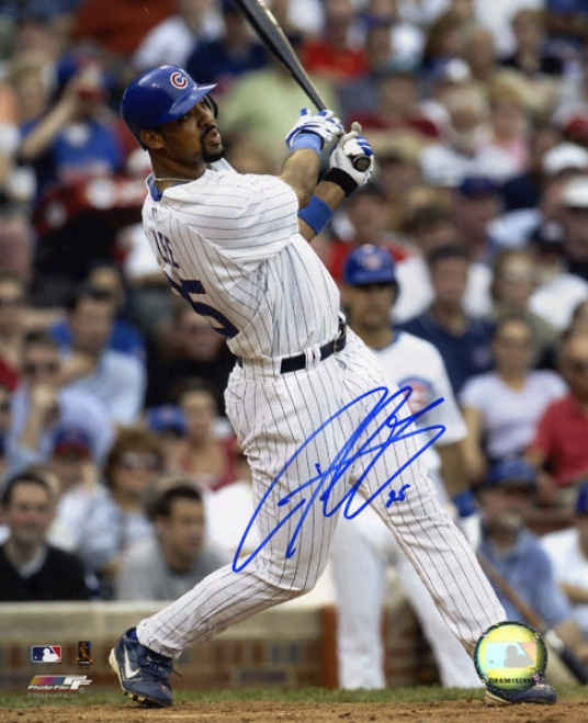 Derrek Lee Chicago Cubs Autograohed 8x10 Photo