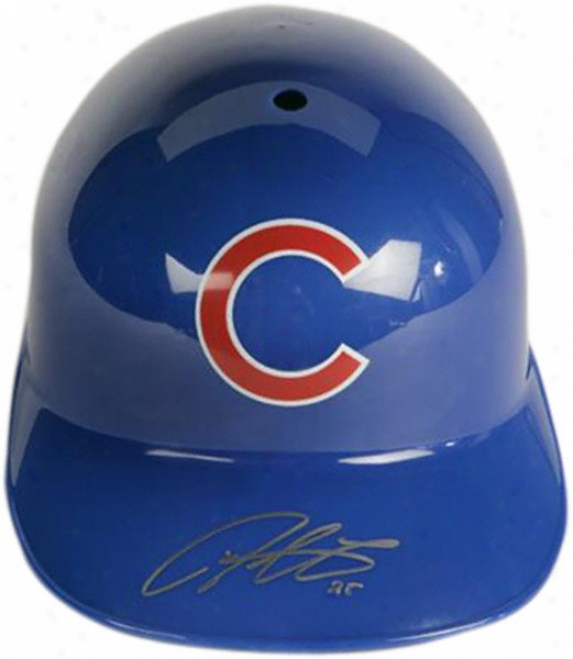 Ddrrek Lee Chicago Cubs Autographed Fhll-size Replica Batting Helmet