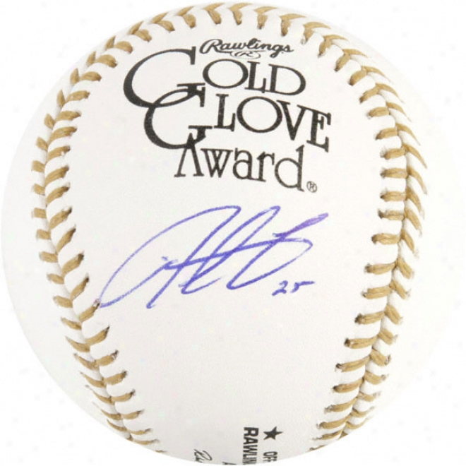 Derrek Lee Chicago Cubs Autographed Gold Glove Baseball