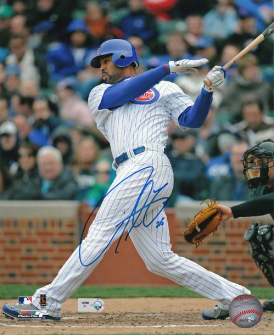 Derrek Leeward Chicago Cubs - Batting - Autographed 8x10 Photograph