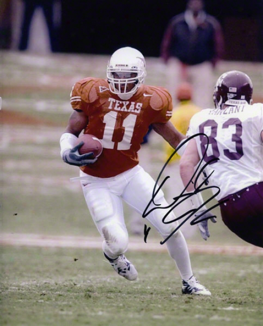 Derrick Johnson Texas Longhorns Autographed 8x10 Photo