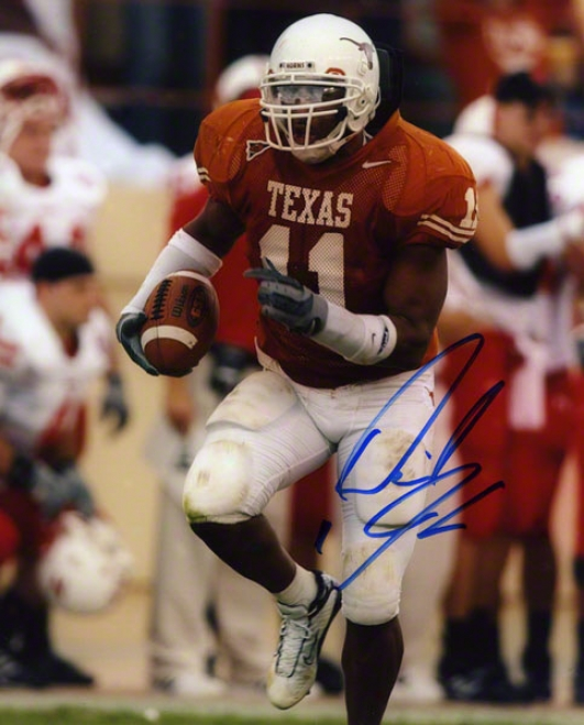 Derrick Johnson Texas Longhorns Autograpjed 8x10 Photograph