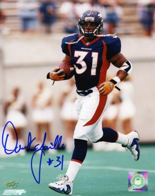 Derrick Loville Denver Broncos - Running - 8x10 Autographed Photograph