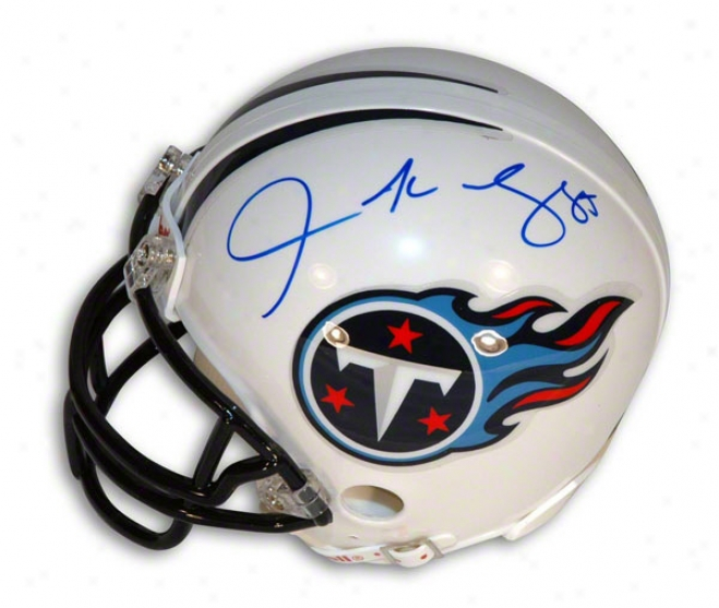 Derrick Mason Autographed Tennessee Titans Mini Helmet