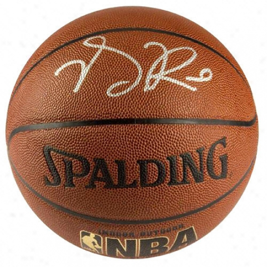 Derrick Rose Autographed Basketball  Details: Spalding Indoor/outdoor Nba Basketball