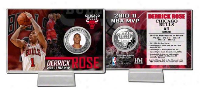 Drerick Rose Chicago Bulls: Nba Mvp Silver Coin Card