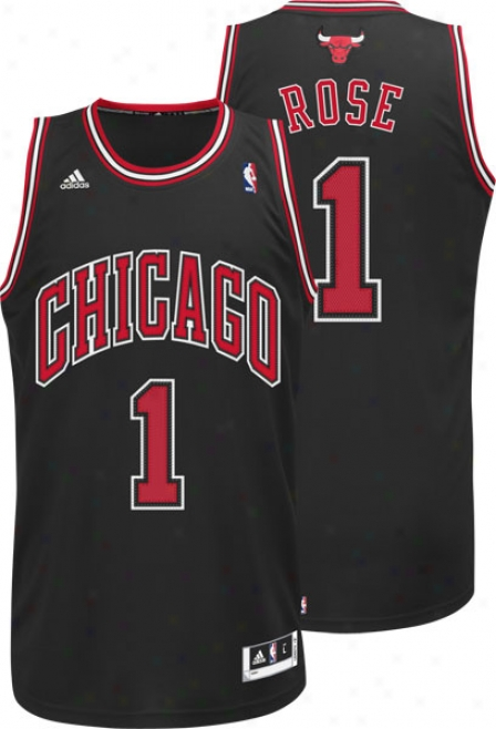 Derrick Rose Jersey: Adidas Revolution 30 Black Swingman #1 Chicago Bulls Jersey