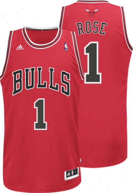 Derrick Rose Jersey: Adidas Revolution 30 Red Swingman #1 Chicago Bulls Jersey