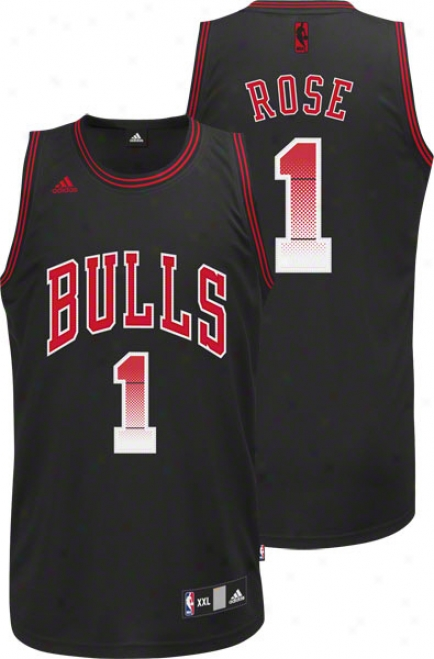 Derrick Rose Jersey: Adidas Vibe Black #1 Chicago Bulls Swingman Jersey