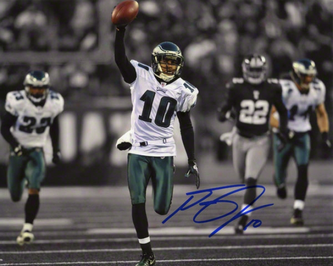 Desean Jackson Autographed 8x10 Photograph  Details: Philadelphia Eagles, Ball In Air