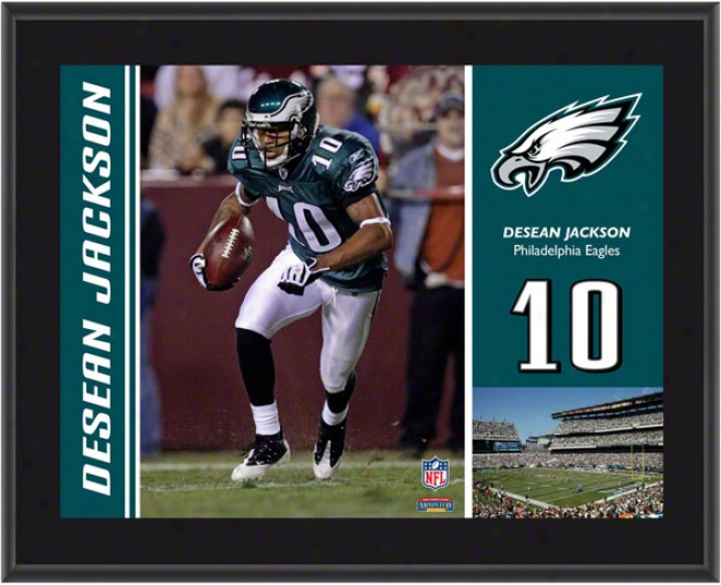 Desean Jackson Plaque  Details: Philadelphia Eagles, Sublimated, 10x13, Nfl Plaque