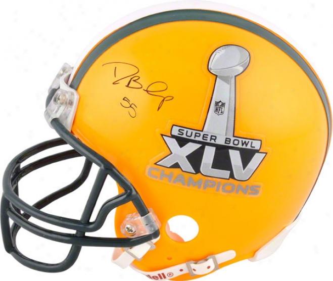Desmond Bishop Autographed Mini Helmet  Details: Half Sb Xlv Half Green Bay Packers