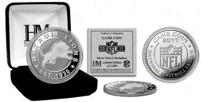 Detriot Lions Silver Game Coin