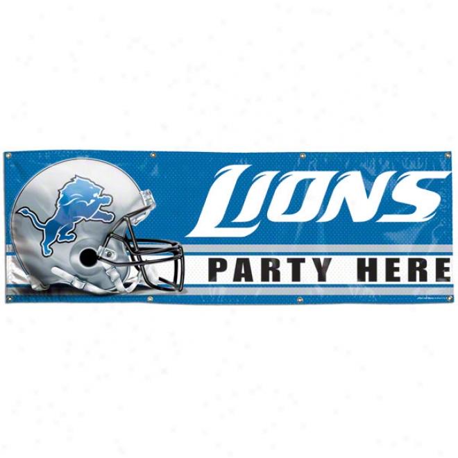 Detroit Lions 2x6 Vinyl Flag