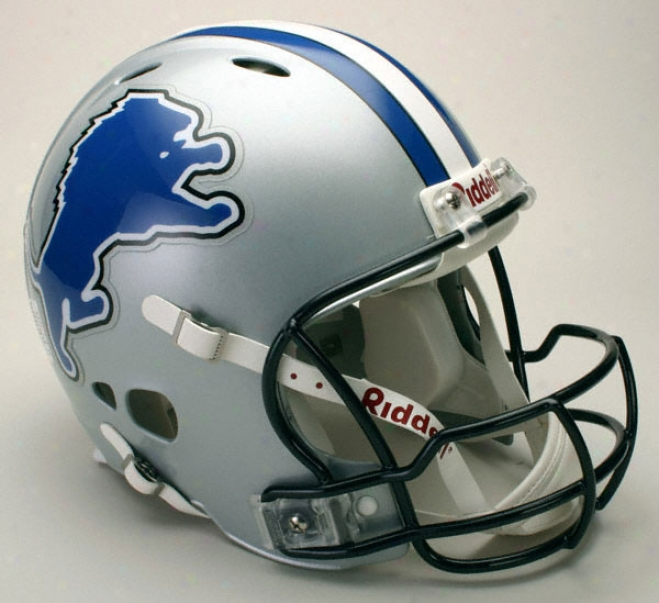Detroit Lions Authentic Pro Line Revolution Ridxell Full Sizing Helmet