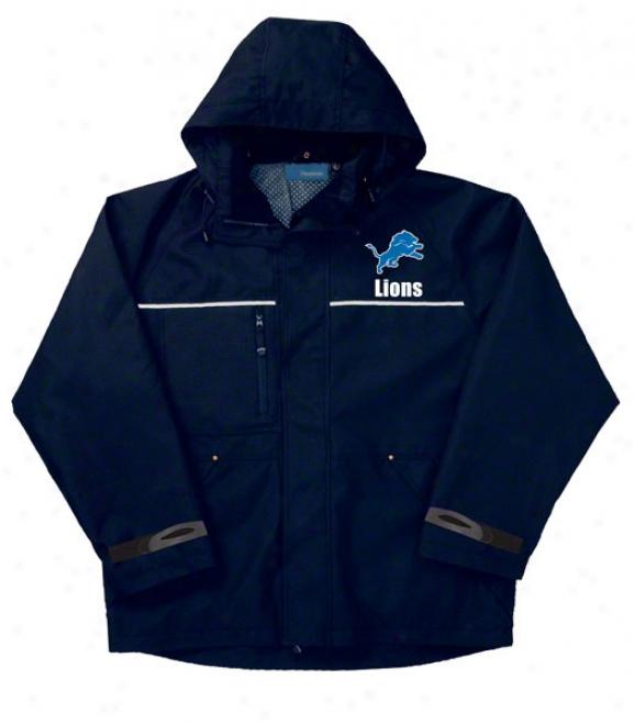 Detroit Lions Jackst: Navy Reebok Yukon Jacket