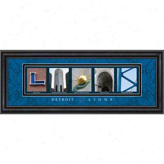Detroit Lions Lettrr Art