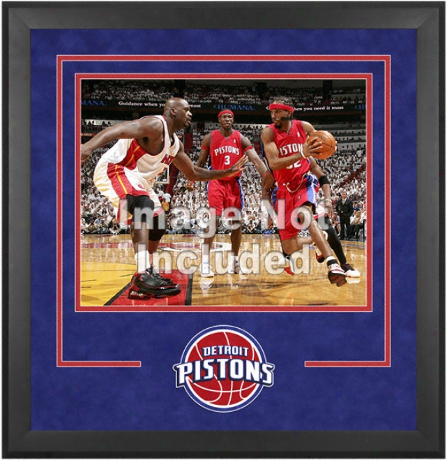 Detroit Pistons 16x20 Horizontal Setup Frame With Team Logo