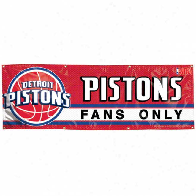 Detroit Pistons 2x6 Vinyl Banner