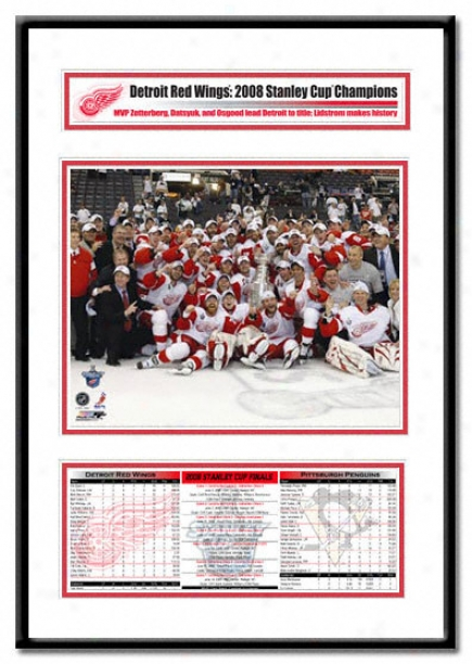 Detroit Red Wings - 2008 Stanley Cup Champs Team Celebration - Champions Frame