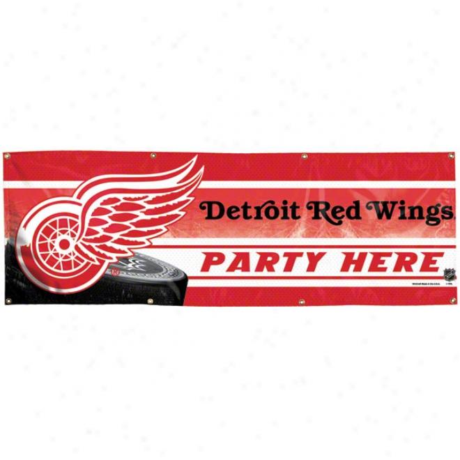 Detroit Red Wings 2x6 Vinyl Banner
