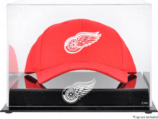 Detroit Red Wings Acrylic Cap Logo Display Case