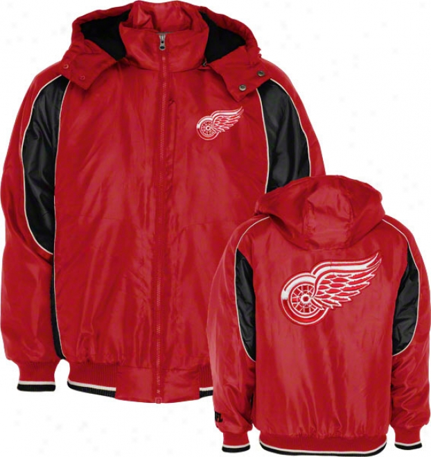 Detroit Red Wings Full-zip Hooded Polyfill Jacket