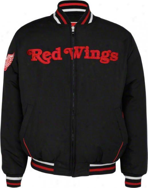 Detroit Red Wings Full-zpi Reversible Microfiber Varsity Jacket