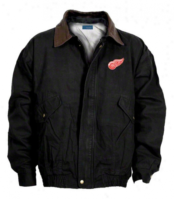 eDtroit Red Wings Jacket: Black Reebok Navigator Jacket