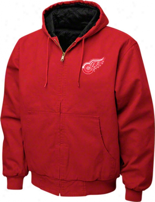 Detroit Red Wings Jacket: eRd Reebok Cumberland Jaciet