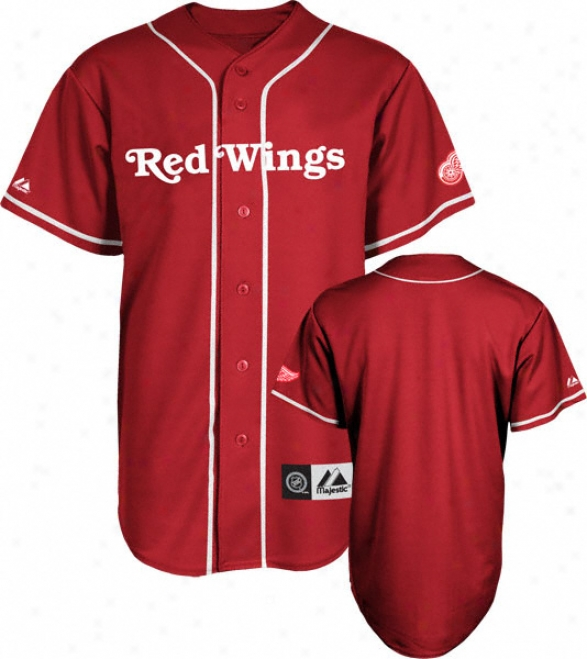 Dstroit Red Wings Jersey: Red Nhl Replica Baseball Jersey
