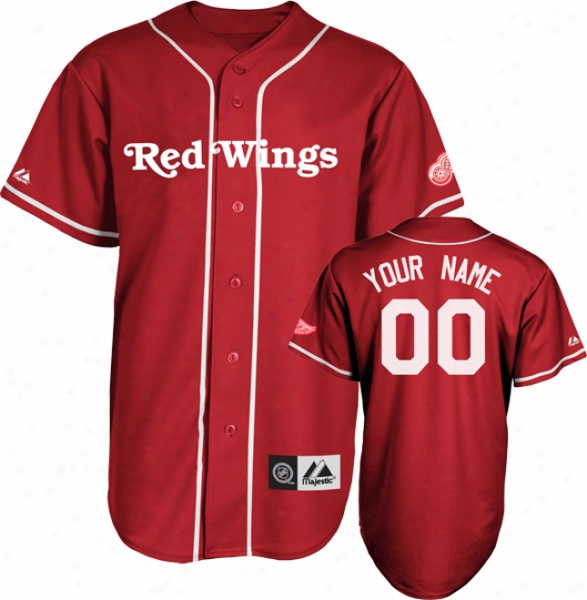 Detroit Red Wings Jersey: Scaltet Customizable Nhl Replica Baseball Jersey