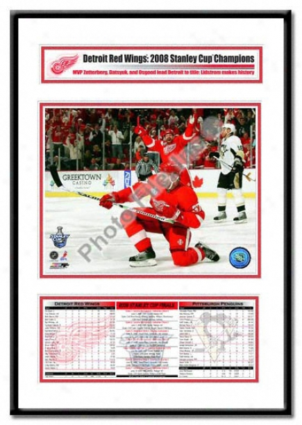 Detroit Red Wings -mikael Samuelssin Game 1 Goal Celebration - 2008 Stanley Cup Champs Hero Frame