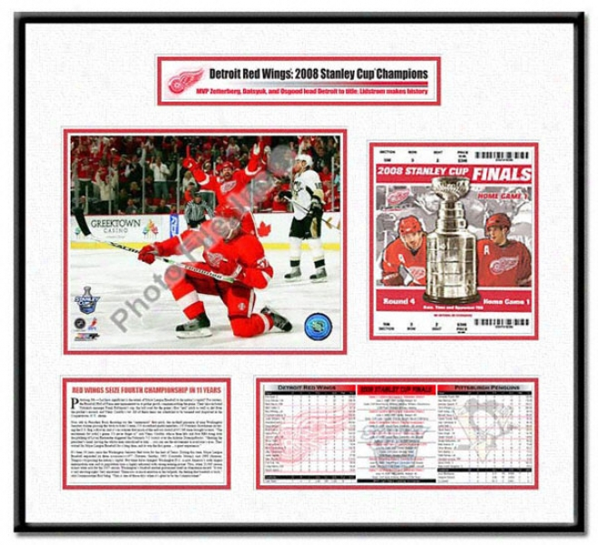 Detroit Red Wings -mikael Sameulsson Gmae 1 Goal Celebration - 2008 Stanley Cup Champions Ticket Skeleton