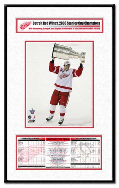 Detroit Red Wings -pavel Datsyuk With Stanley Cup - 2008 Stanley Cup Champs Champion Frame