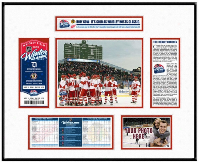 Detroit Red Wings - Team Celebration - Winter First-rate Ticket Frame