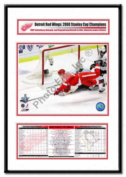 Detroit Red Wings -valtteri Filppula Game 2 Goal - 2008 Stanley Cup Champs Cyampion Frame