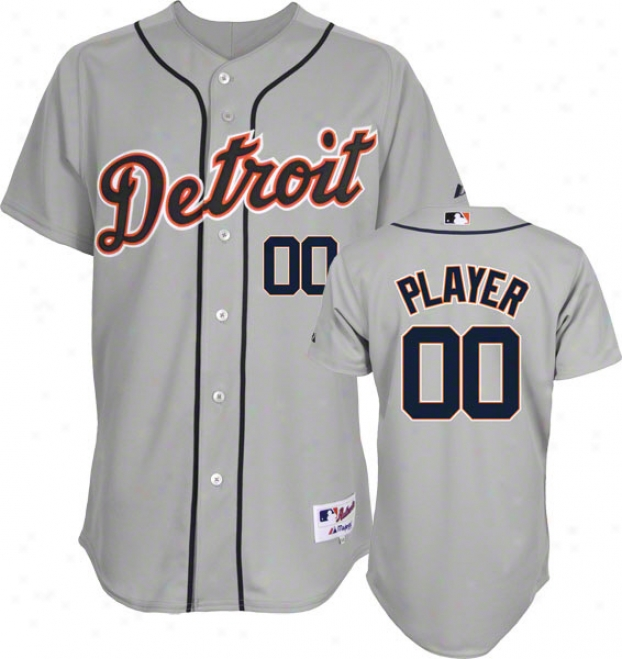 Detroit Tigers -any Player- Authentic Road Grey On-field eJrsey