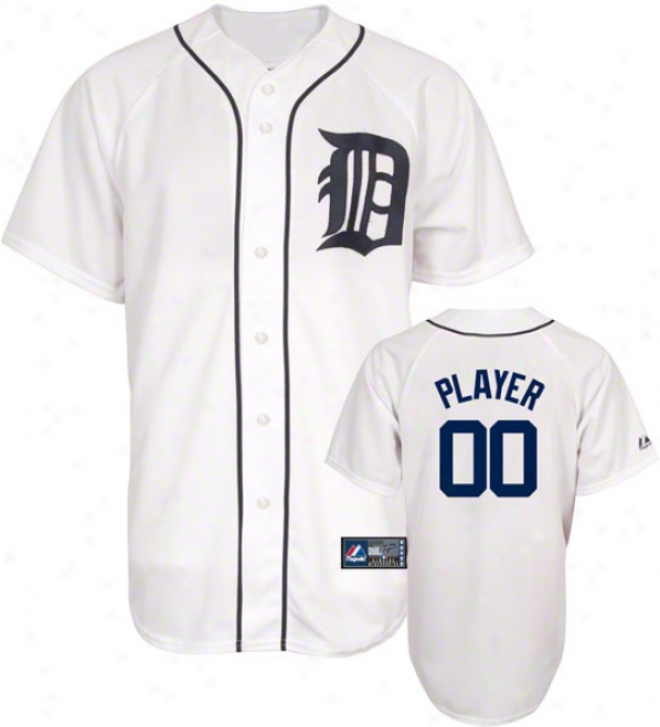 Detroit Tigers -any Player- Home Mlb Repliva Jersey