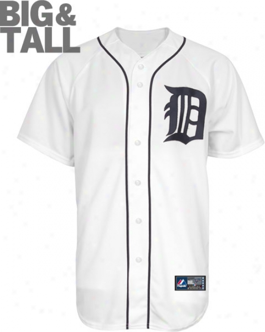Detroit Tigers Big & Tall Home Pure Mlb Replica Jersey