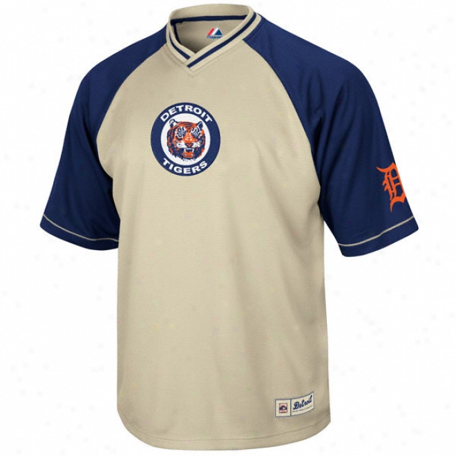 Detroit Tigers Cooperstown Full Force V-neck Jersey