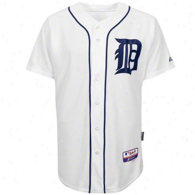 Detroit Tigers Homs White Authentic Cool Baseã¢â�žâ¢ On-field Mlb Jersey