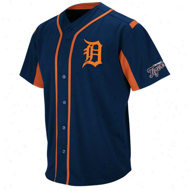 Detroit Tigers Navy Wind-up Jersey