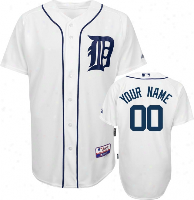 Detroit Tigers - Personalized Through  Your Name - Authentic Cool Base�␞� Home Happy On-field Jersey
