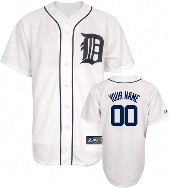 Detroit Tigers -personalized With Your Name- Close Mlb Replica Jersey