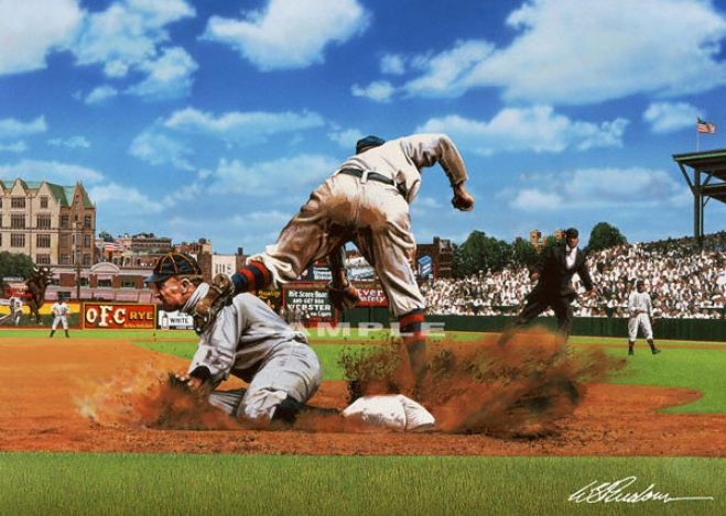 Detroit Tigers - &quotty On Thid&quot - Wall - Unframed Giclee